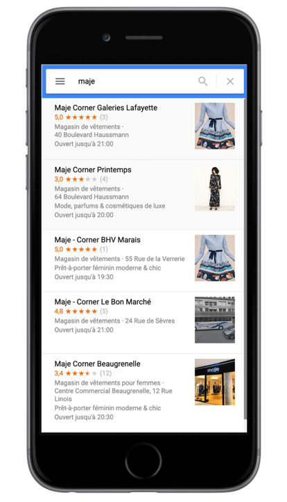 fiches google my business pop-up stores