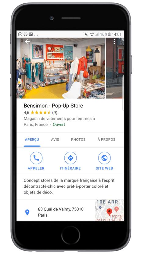 pop-up store google my business