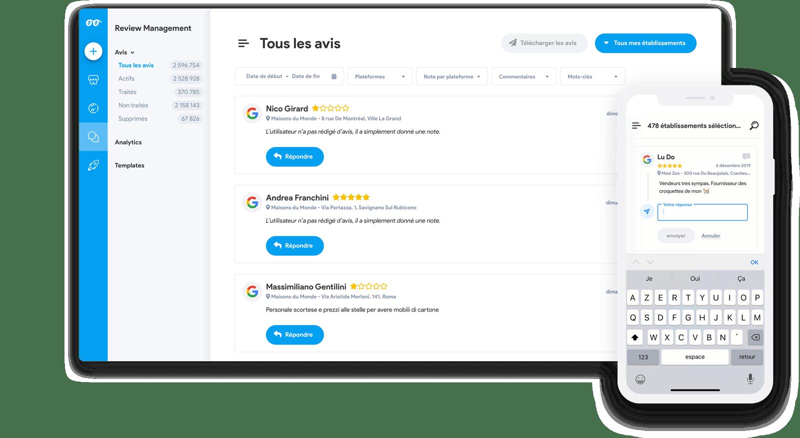 Review Management Desktop & Mobile