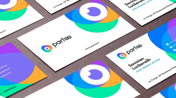 partoo business card with new identity