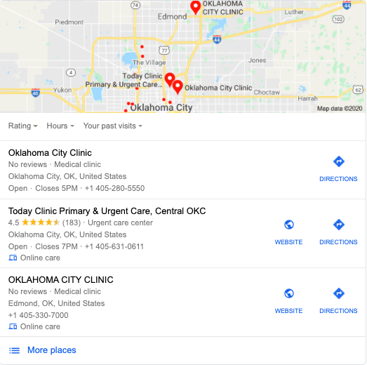 Clinic seo local pacl
