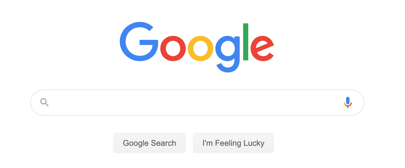 Google interface