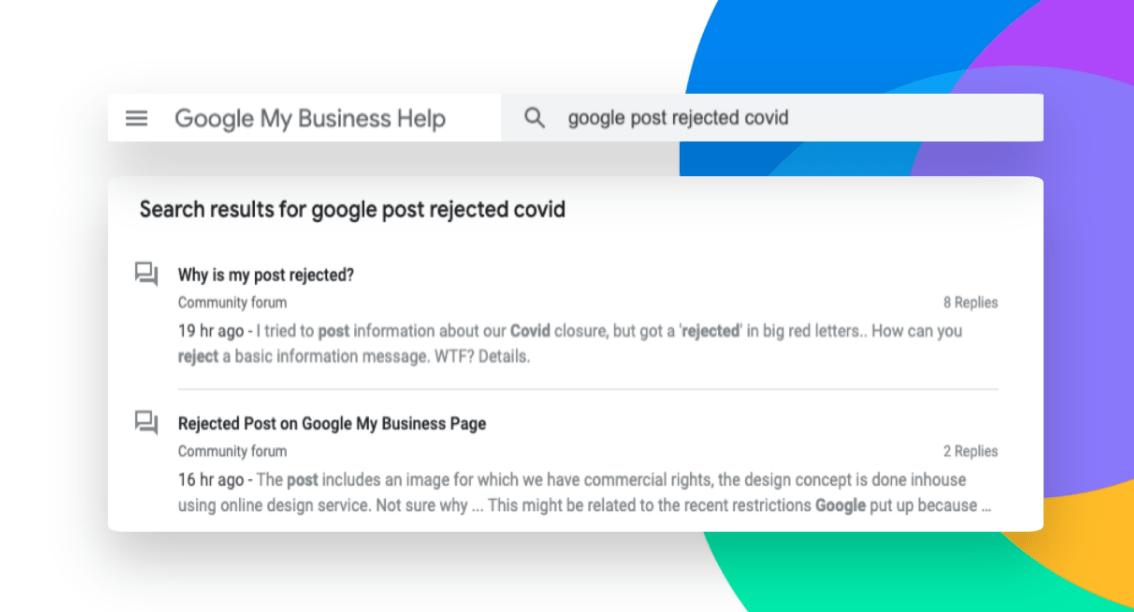 búsqueda en google my business help center sobre por qué google my business no permite eliminar el Google