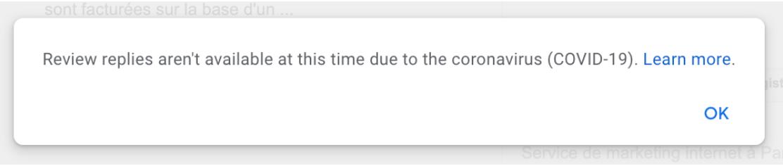 google my business message ai vostri utenti. questa funzionalità è bloccata al momento.