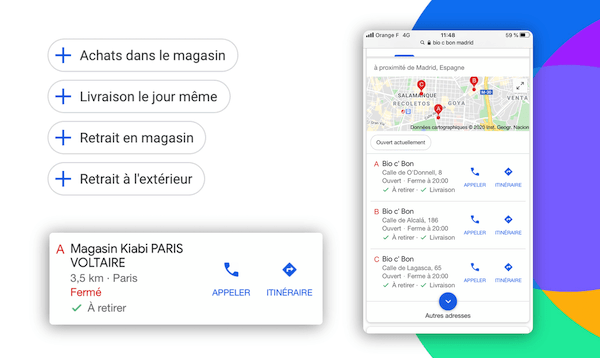 click&collect sur google my business