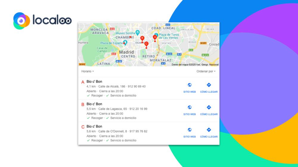 imagen de nuevos atributos google my business sobre servicio a domicilio y de recogida en las fichas google