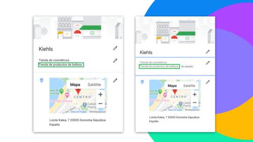 back office google my business kielhs con el proceso de revisión de cambios sobre atributos