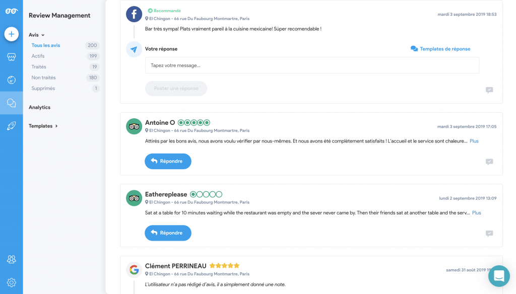 interface partoo review management