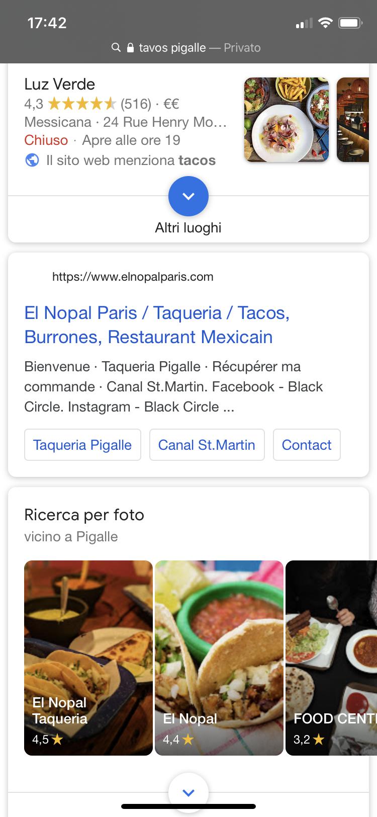 ricerca per photo su Google