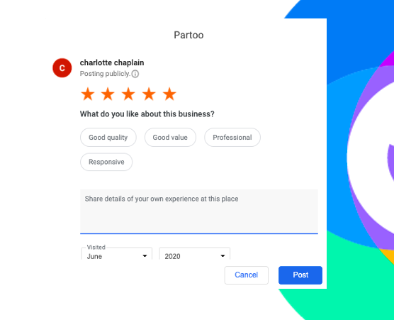 Leave a review on Google listing