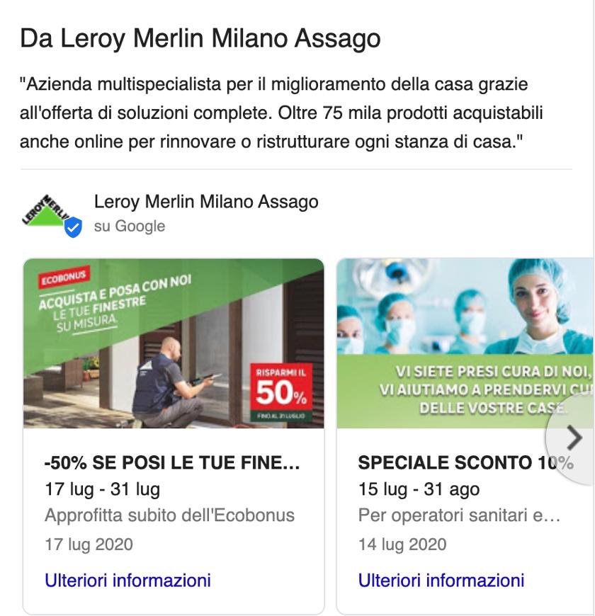 exemples de google posts