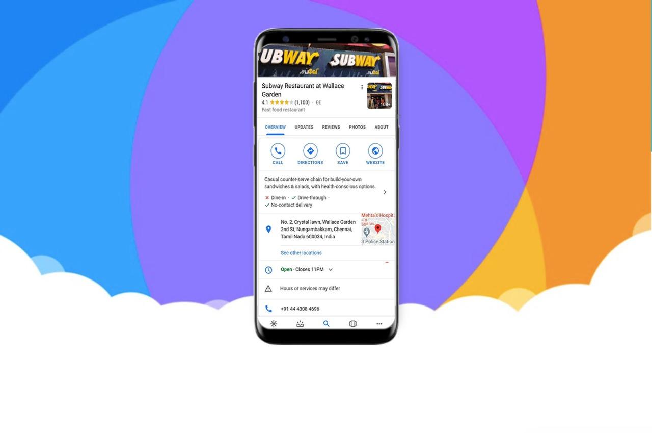 Subway Chennai Google information
