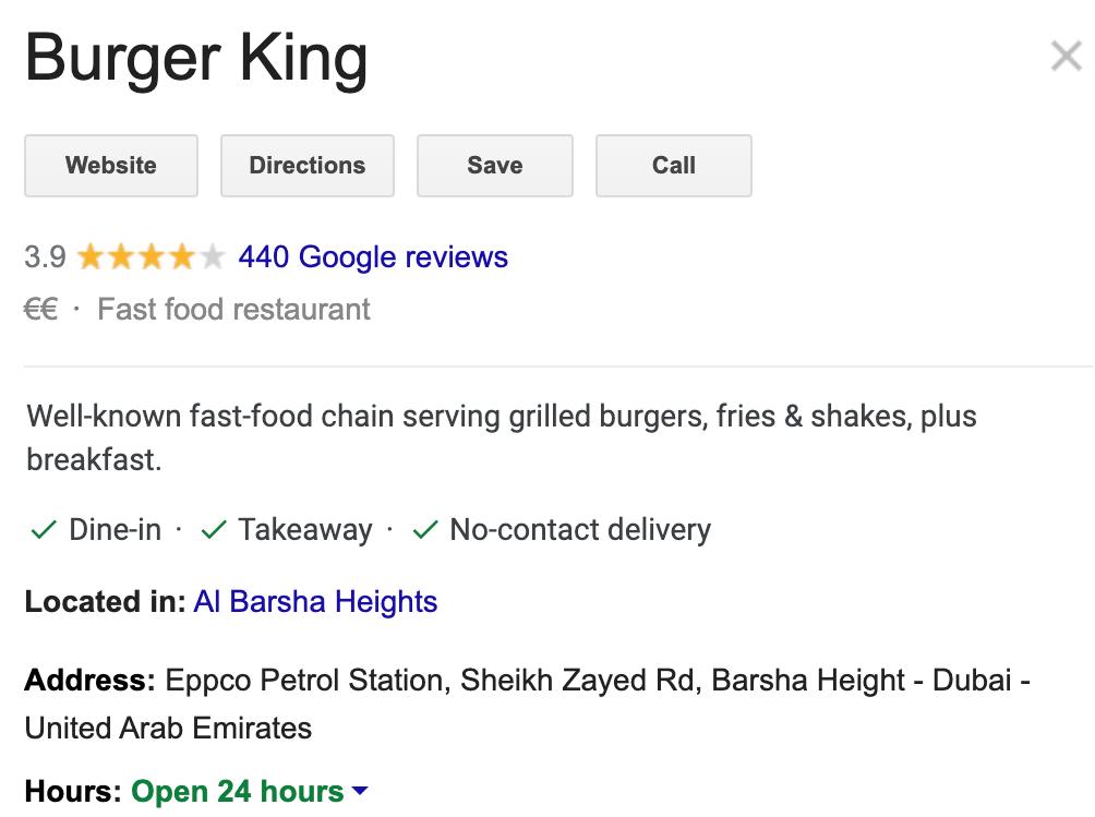 Burger King Gmb attributes