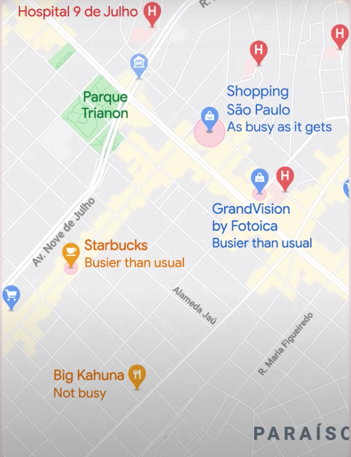 Google Maps live street view