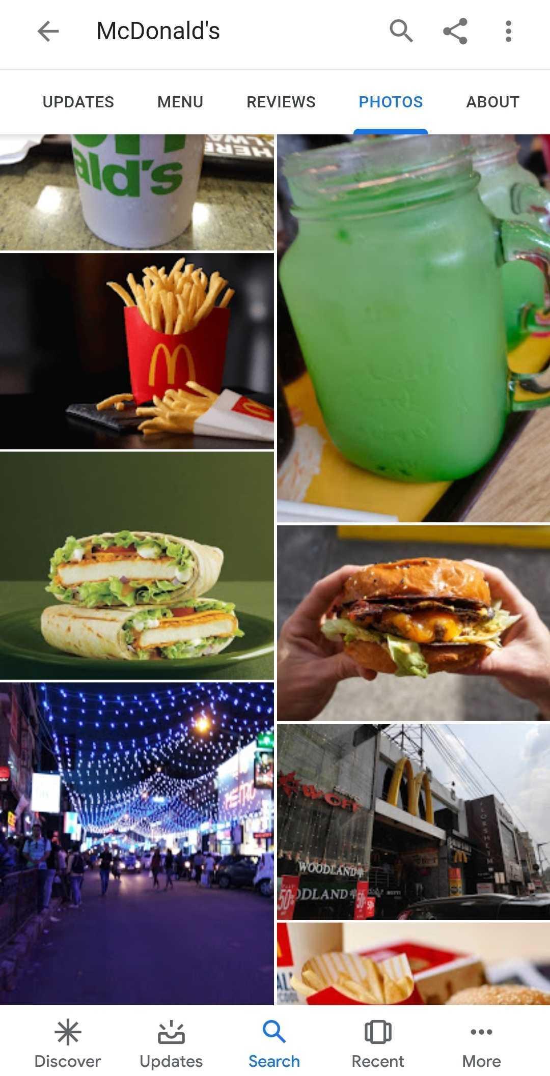 GMB photos of Mcdonalds in Bangalore