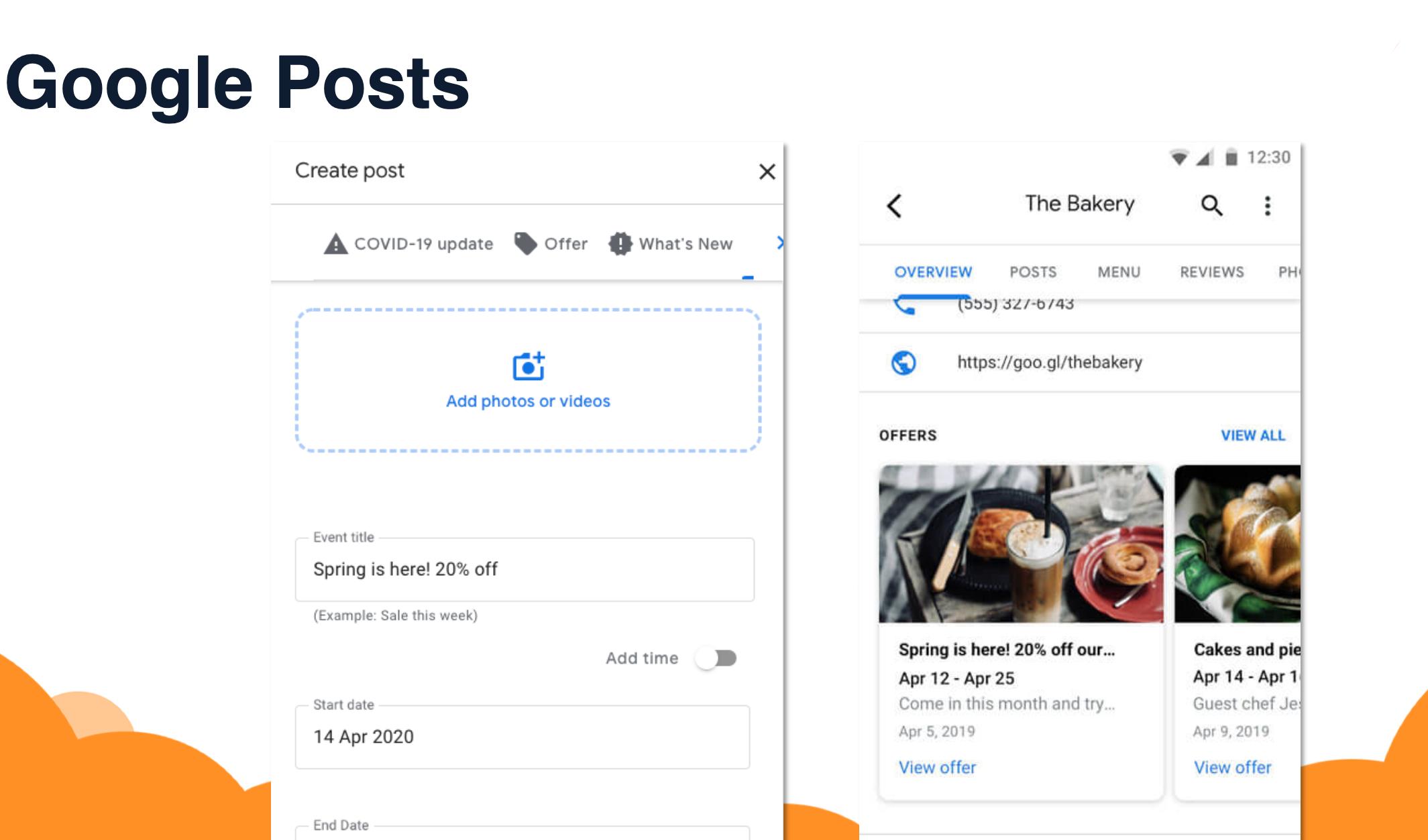 The Bakery Google Posts