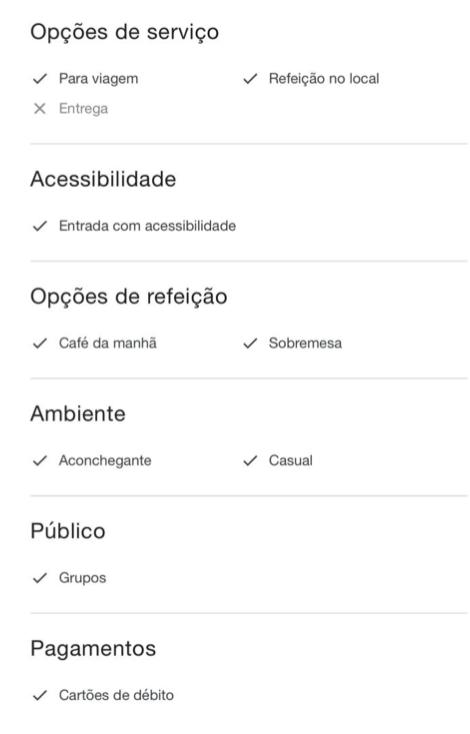atributos ficha google my business