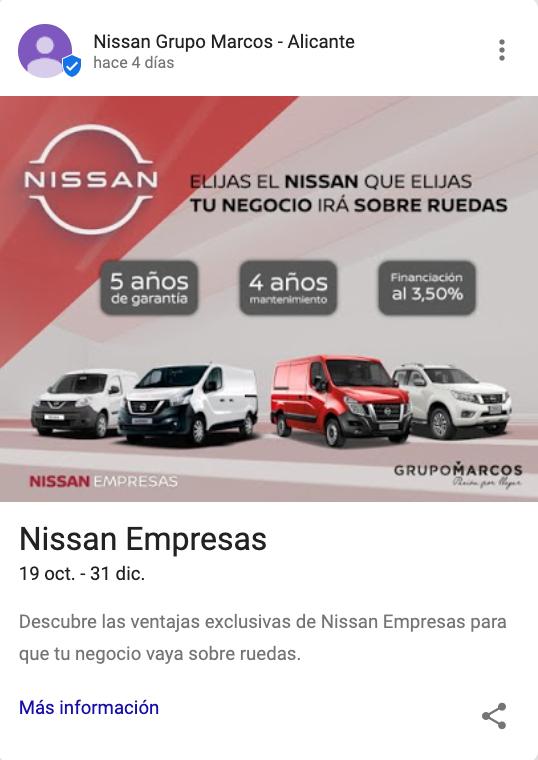 google posts Nissan