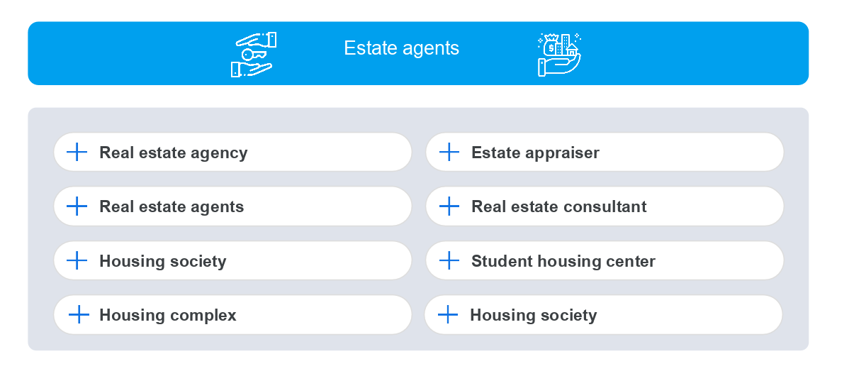Real estate categories on GMB