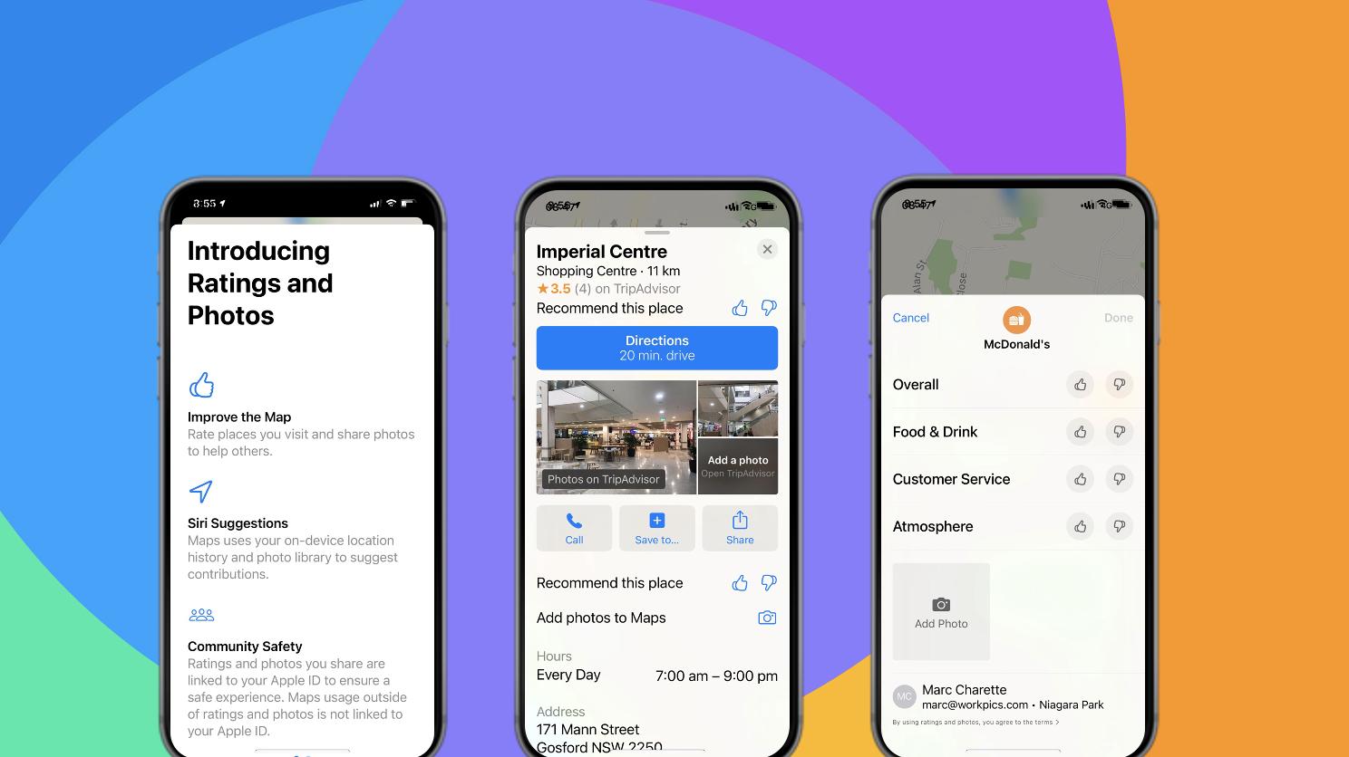 Nouvelle interface d'avis iOS14 Apple Plans
