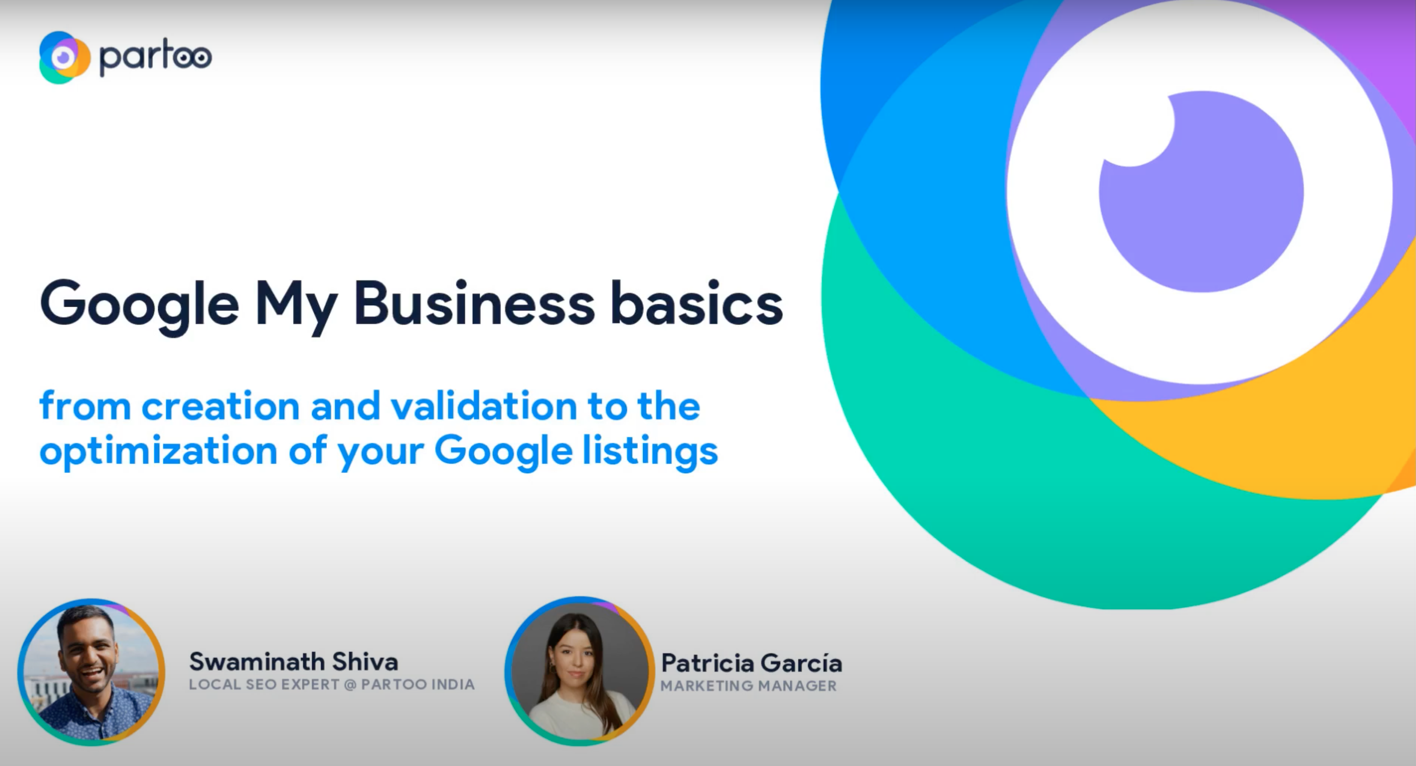 webinar for partoo india about google my business basics