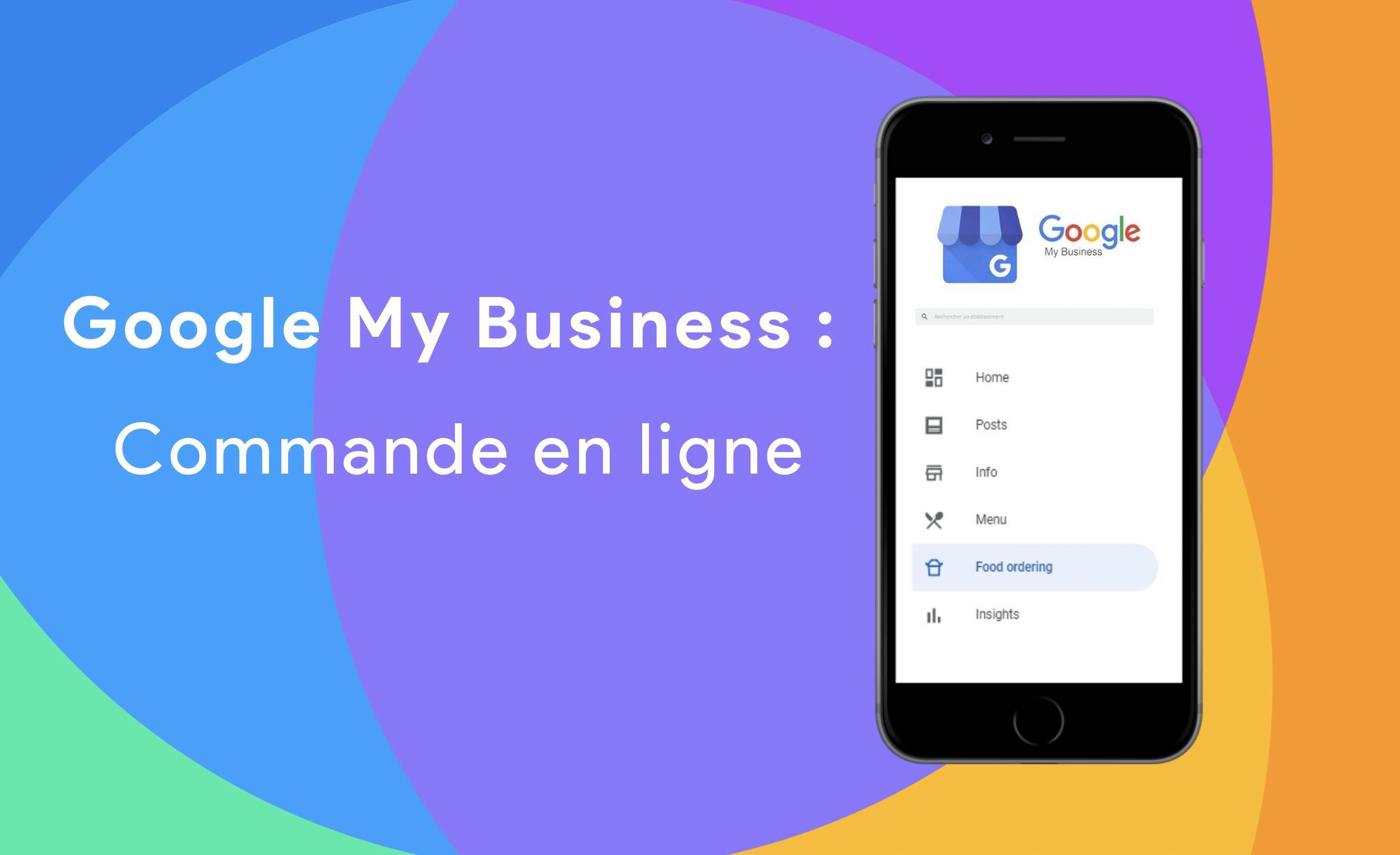 Commande en ligne sur Google my business