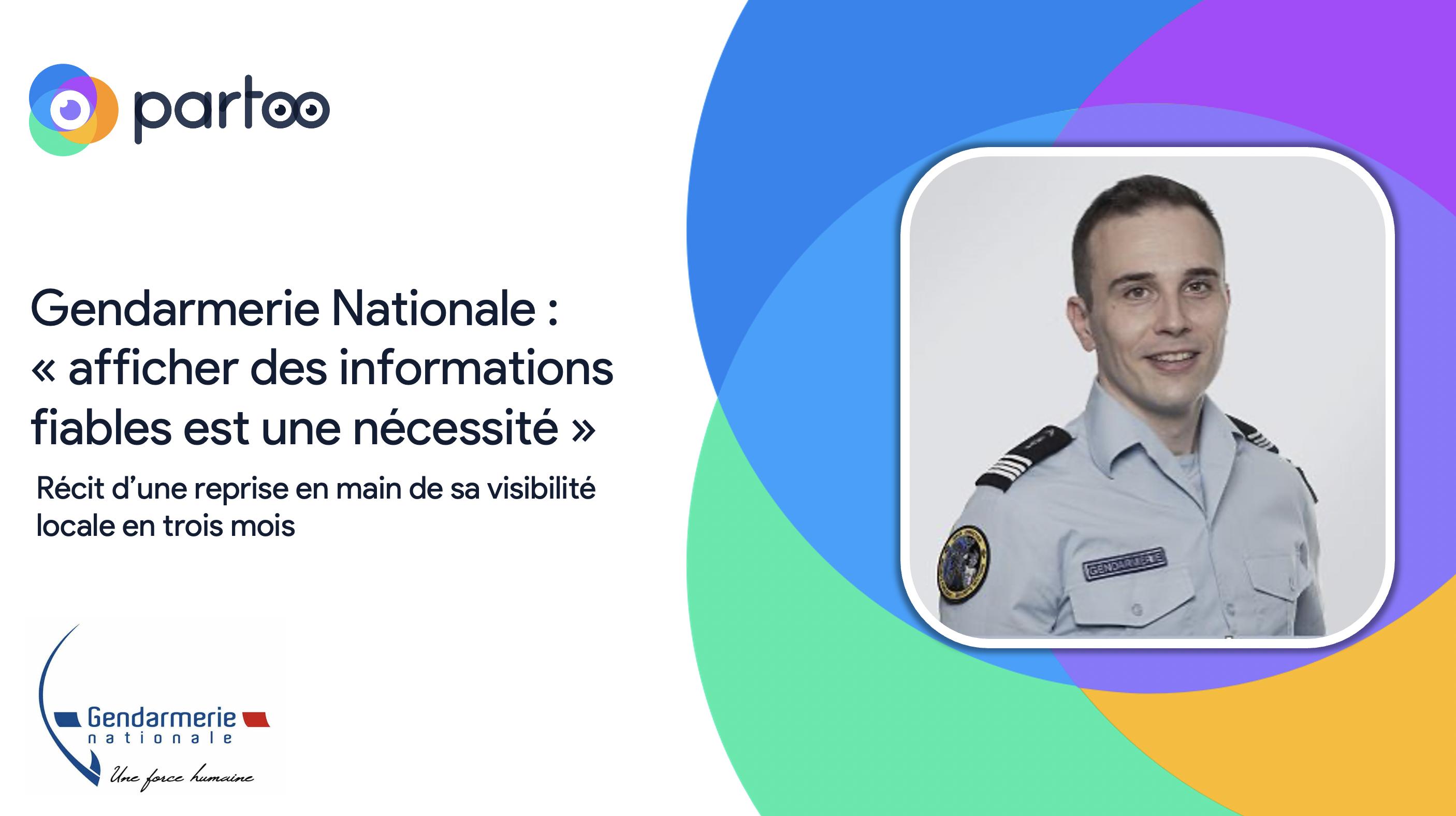 Stratégie digitale locale de la Gendarmerie Nationale Partoo