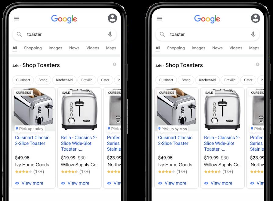 Retrait immédiat ou différé Google Local Ads
